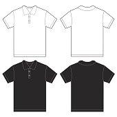 Black White Polo Shirt Design Template For Men