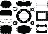 Black & White Vector Frames