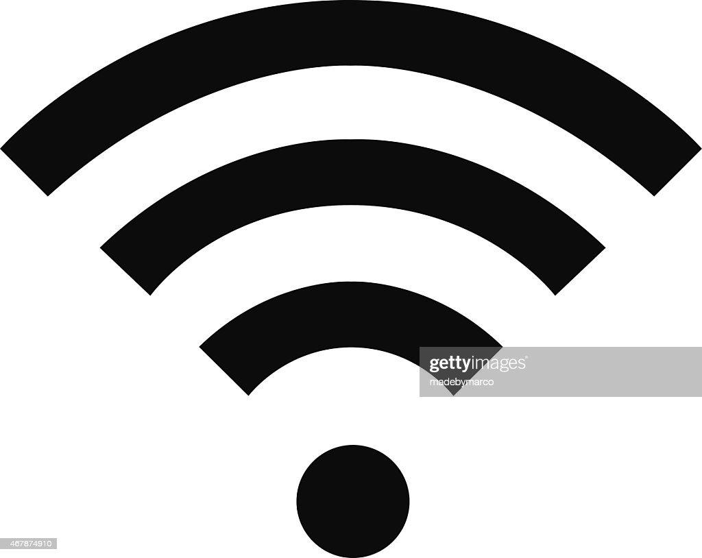 Black Wi-fi logo