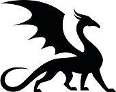 Black winged dragon