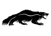 Black wolverine sign.