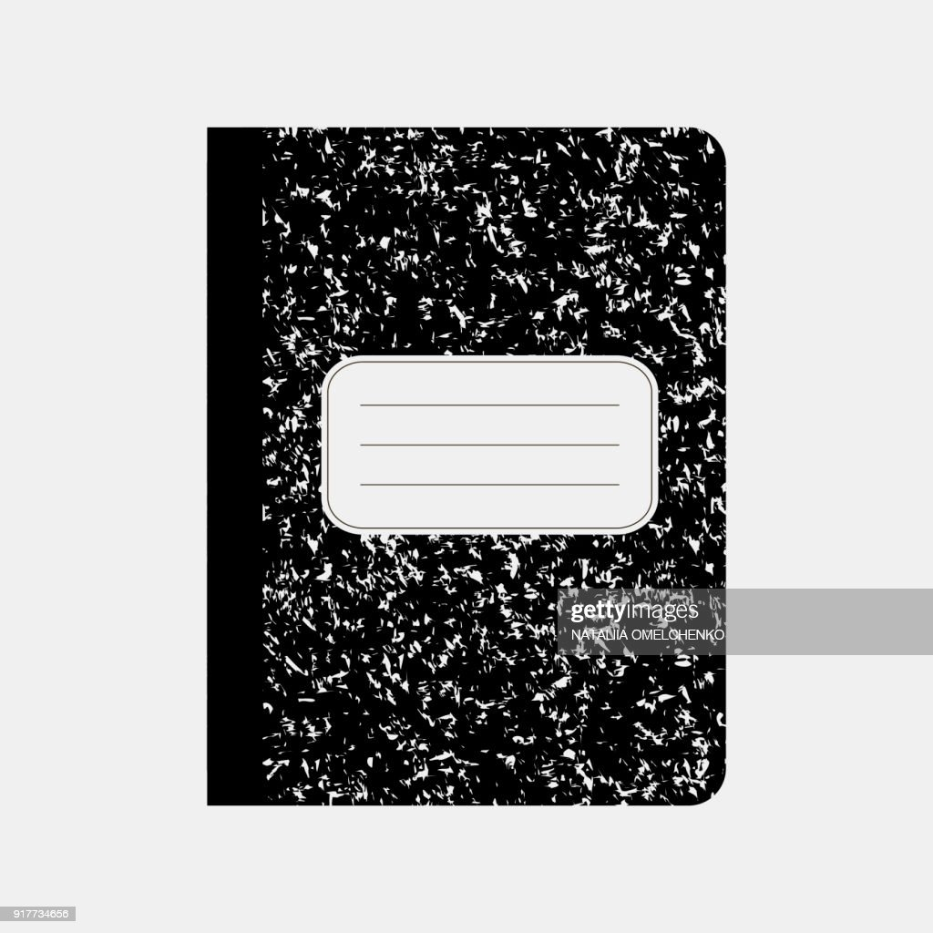 Black workbook, notebook