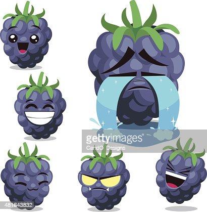 blackberry cartoon set b vector art getty images