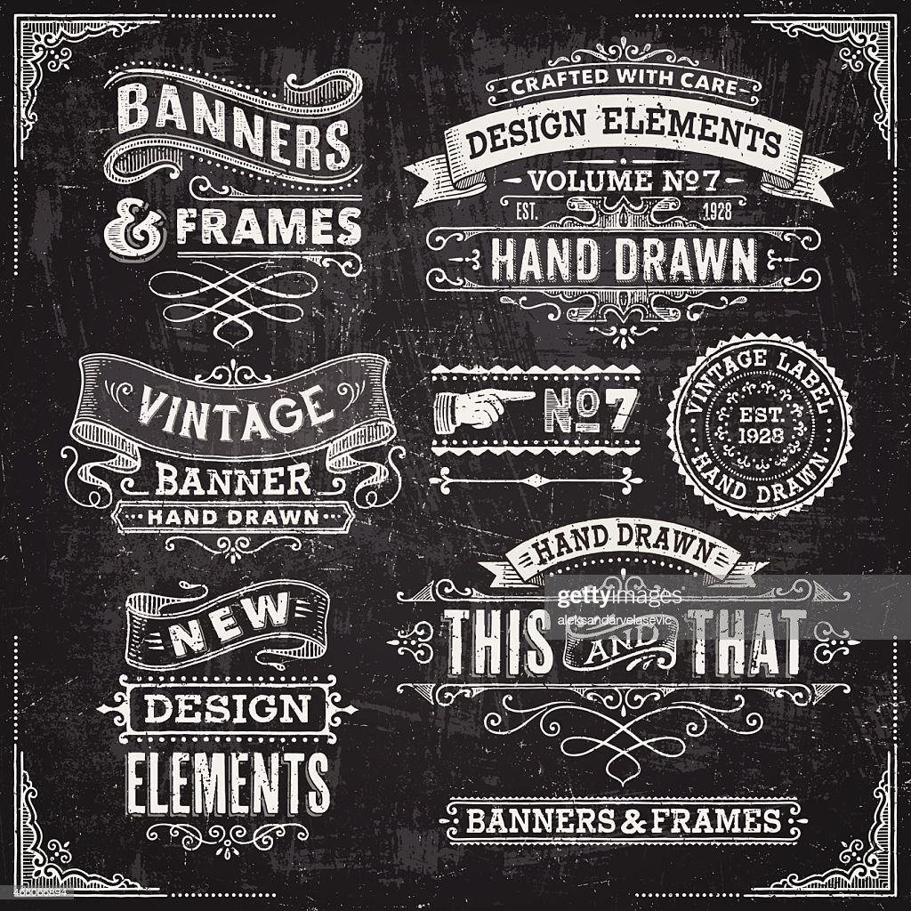 Blackboard Banners,Badges and Frames
