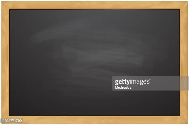 blackboard chalk vector - blackboard visual aid stock illustrations