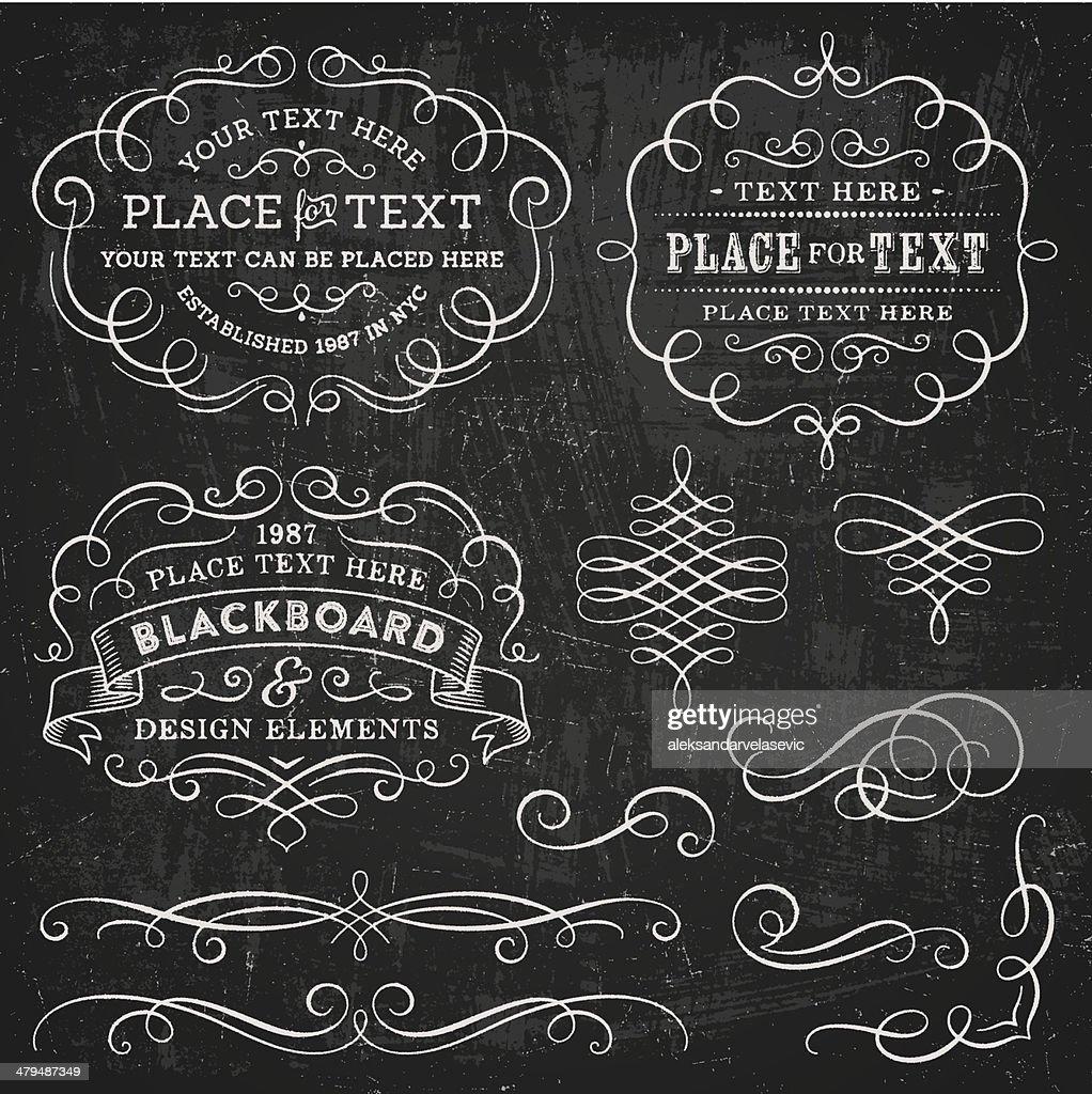 Quadro negro elementos de Design : Ilustração