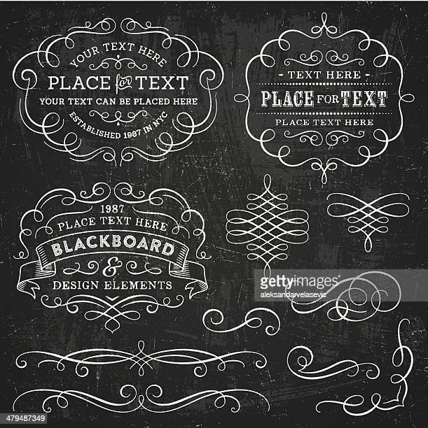 blackboard design elements - ornate stock illustrations, clip art, cartoons, & icons