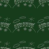 Blackboard. School. Seamless vector pattern