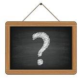 blackboard with question mark