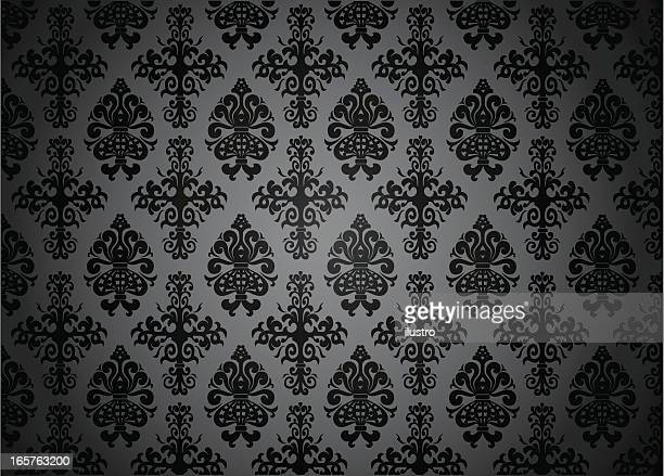 blacked-out pattern - gothic style stock illustrations, clip art, cartoons, & icons