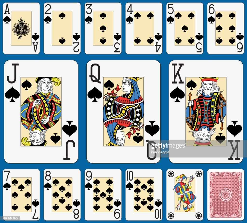 Blackjack Spades Suite French Style