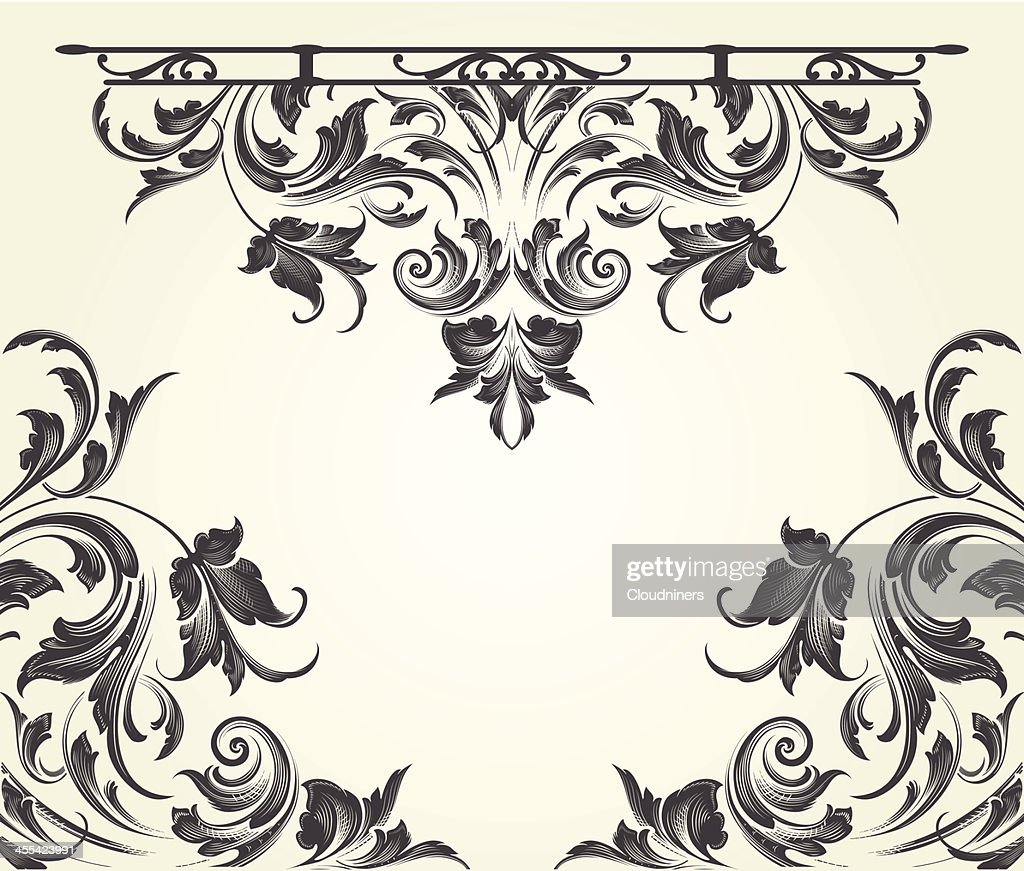 Blackleaf Flourish Arabesque scrollwork