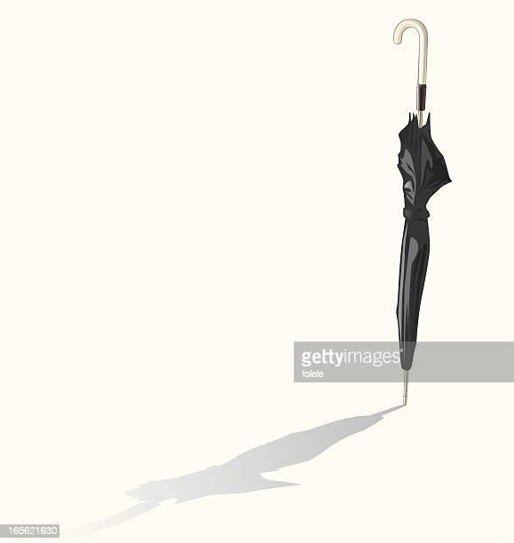 black-umbrella - closed stock illustrations, clip art, cartoons, & icons