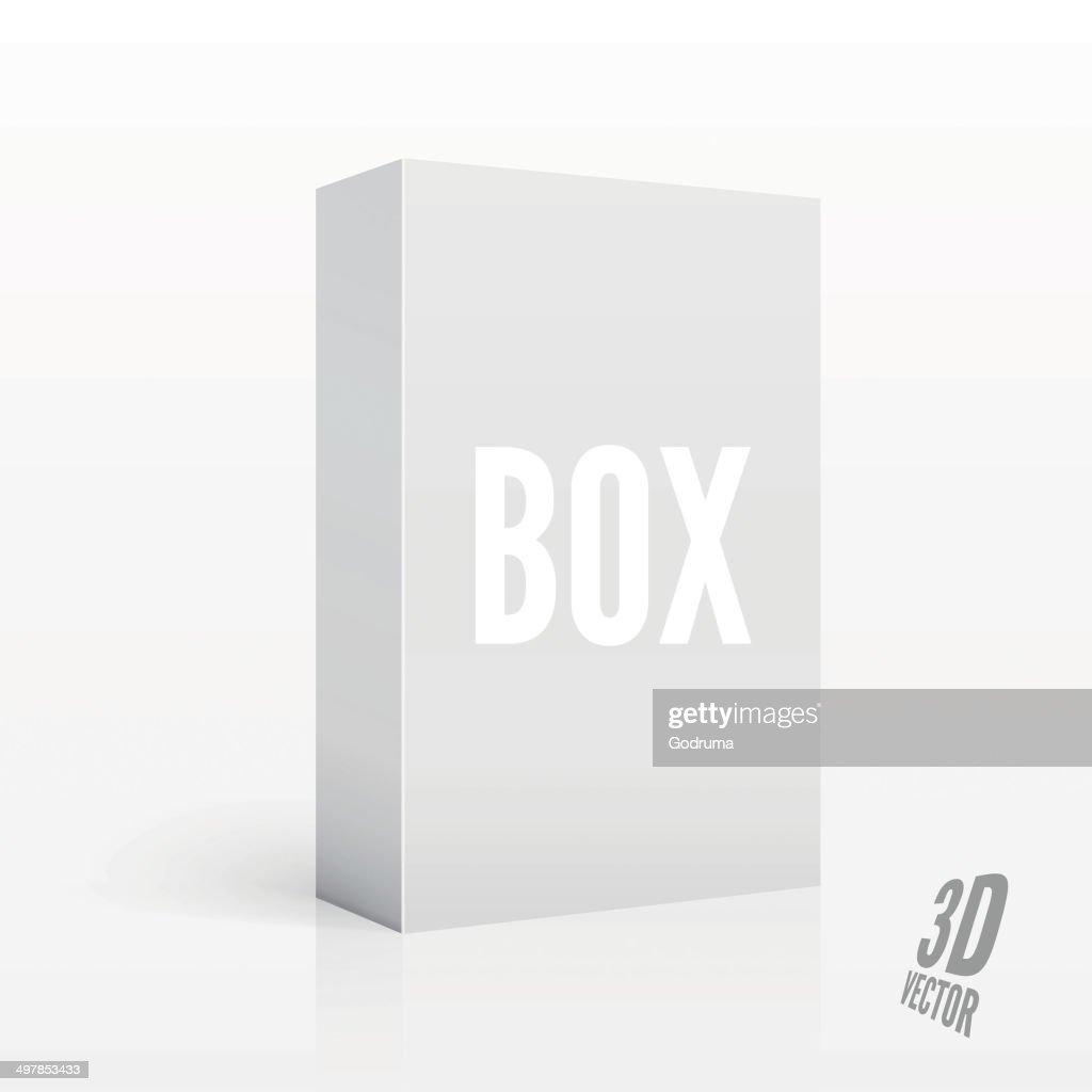 Blank 3D Box. Vector illustration for your design.
