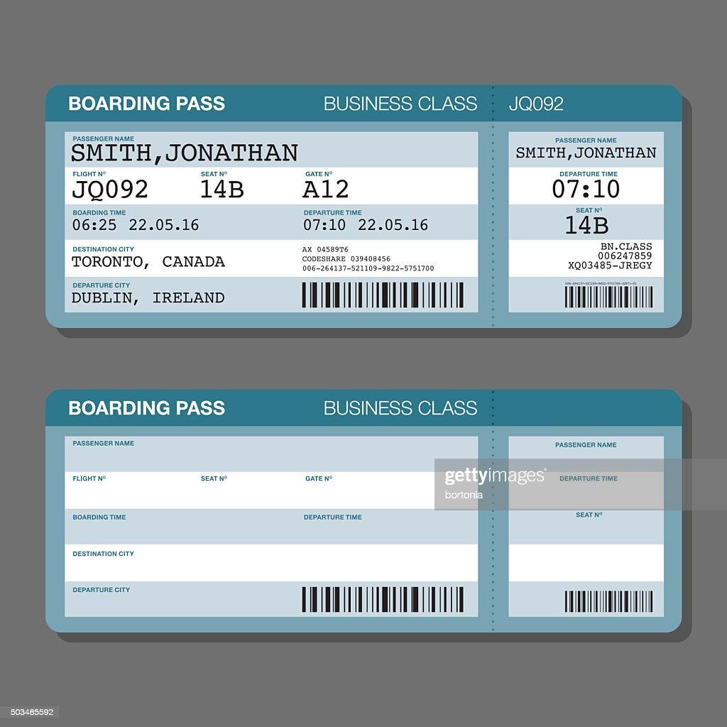 Blank Airport Boarding Pass Template