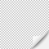 Blank background with curled page