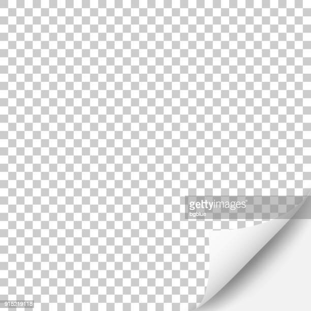 blank background with curled page - paperwork stock illustrations