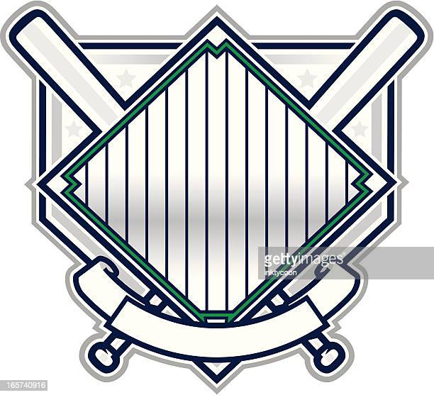 Blank baseball champion design isolated on white