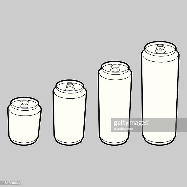 blank beverage cans - can stock illustrations