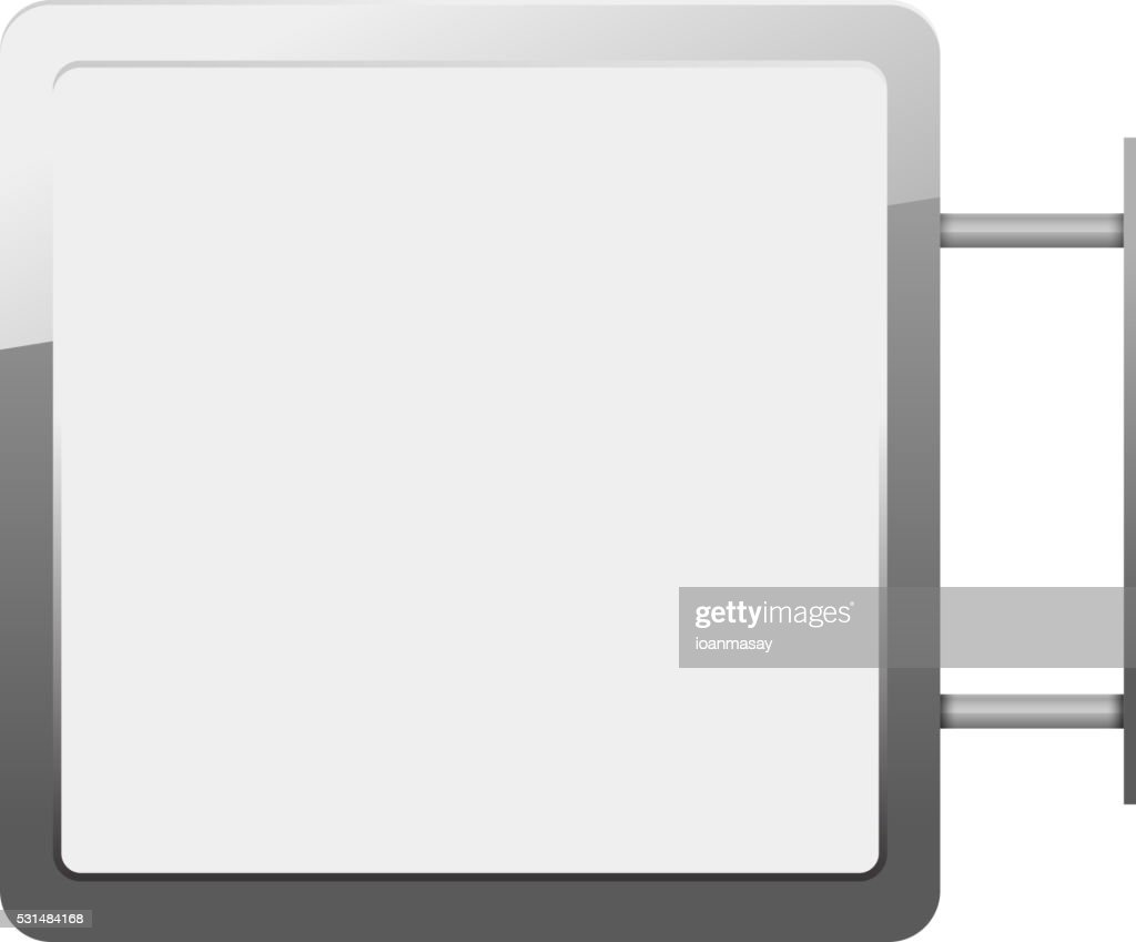 Blank billboards and outdoor advertisement templates isolated. L