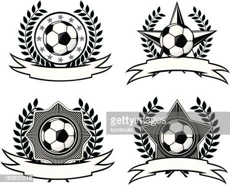 blank black and white soccer logos vector art getty images
