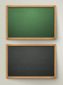 blank black chalkboard set