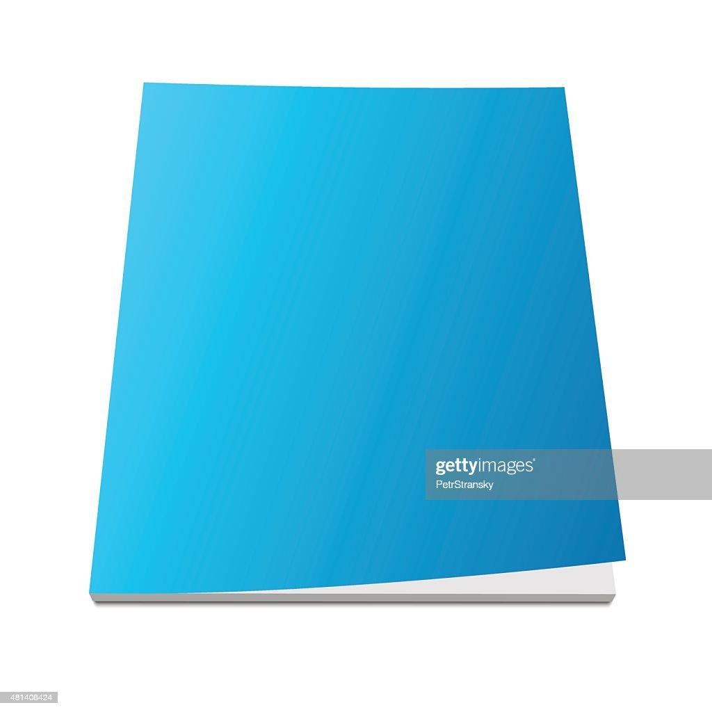 blank blue magazine cover