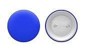Blank blue round pin