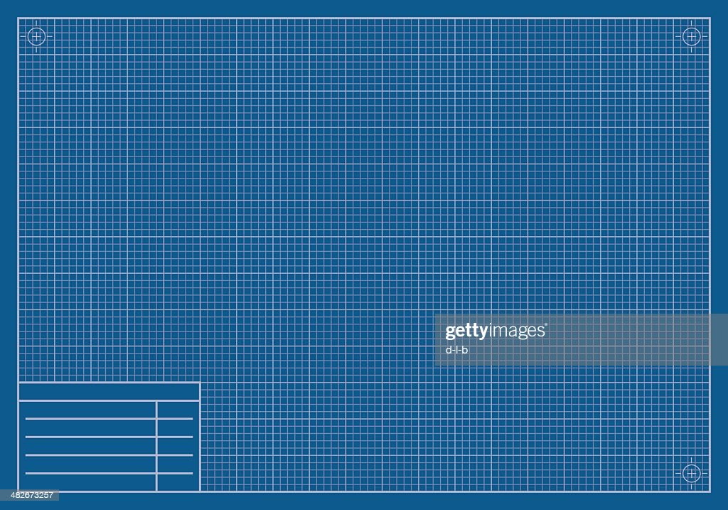 Blank blueprint paper vector art getty images blank blueprint paper vector art malvernweather Gallery