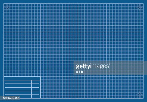 Blank blueprint paper vector art getty images malvernweather Choice Image
