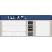 Blank Boarding Pass Illustration