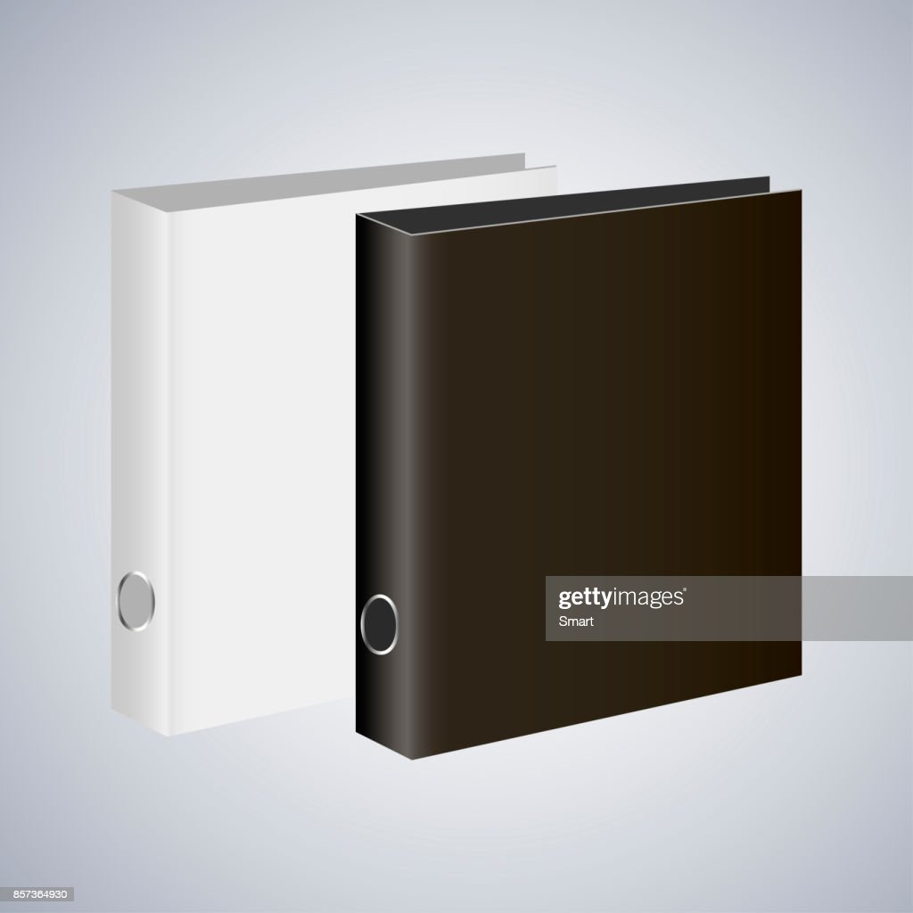 Blank book cover, binder or folder templates. Vector illustration