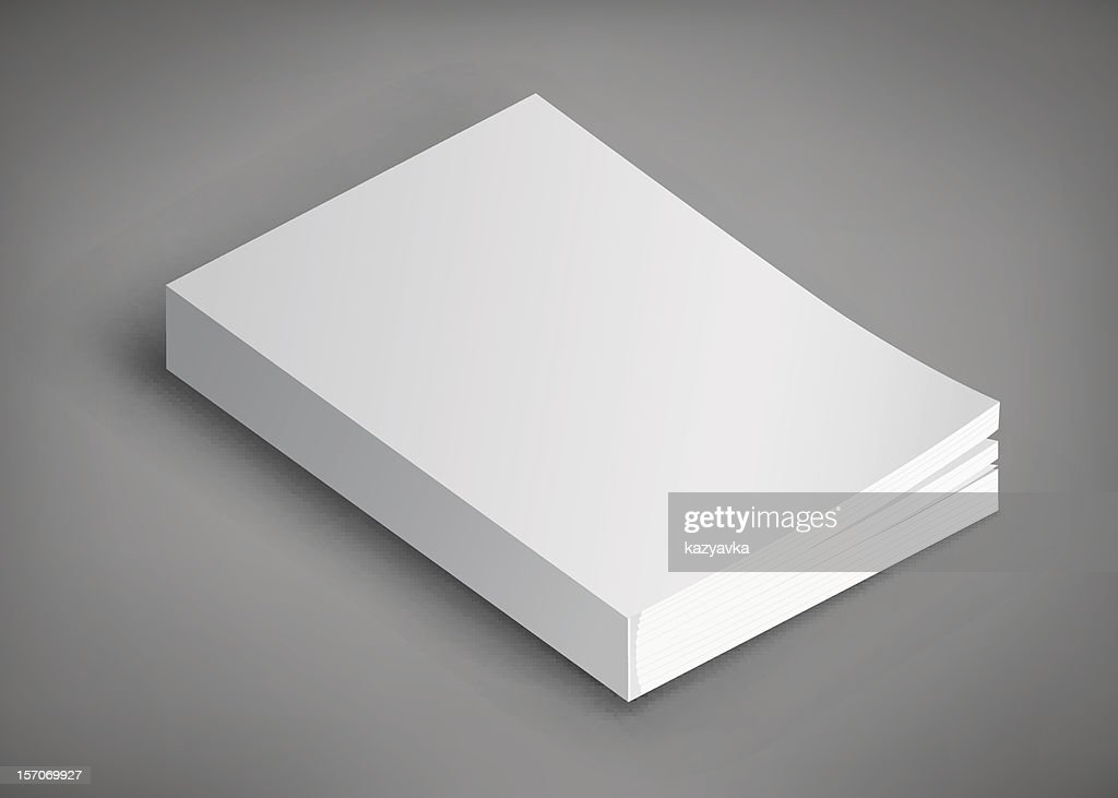 Blank book cover. Template for your design.