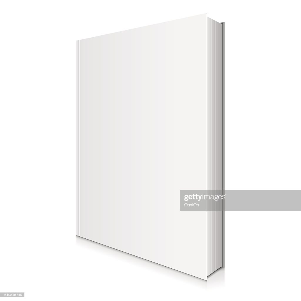 Blank Book Cover Vector Illustration.