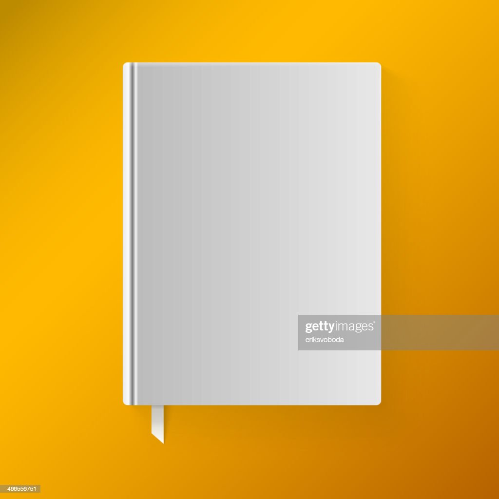 Blank book cover with a bookmark. Object for branding