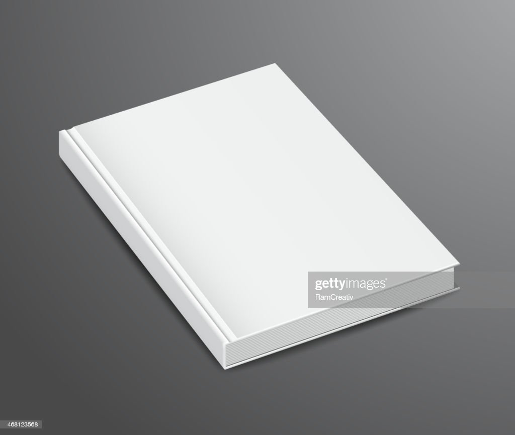 Blank Book Design Isolated on Dark Background, Hardcover