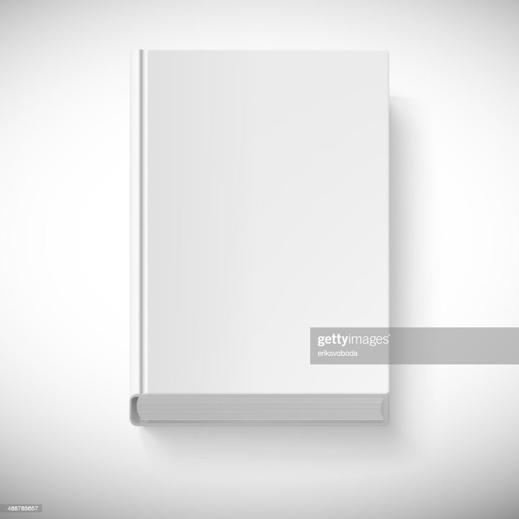 Blank book drawn in perspective.
