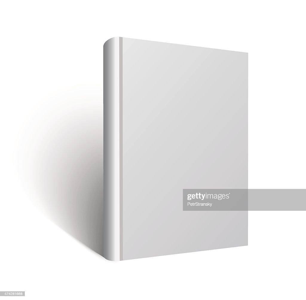 blank book mockup vector eps