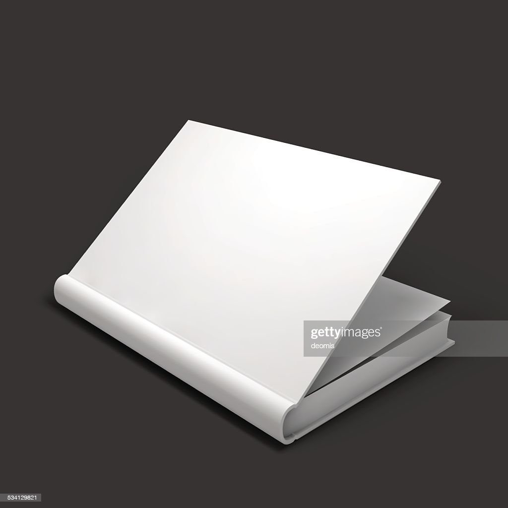 Blank book, textbook, booklet or notebook mockup