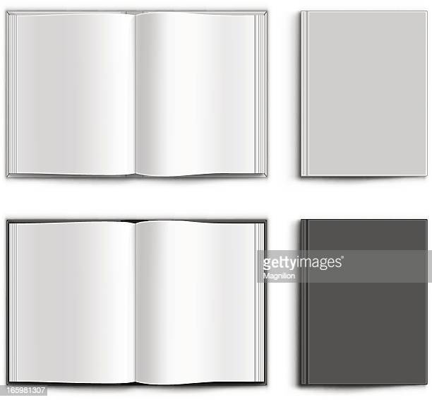 blank book - open stock illustrations