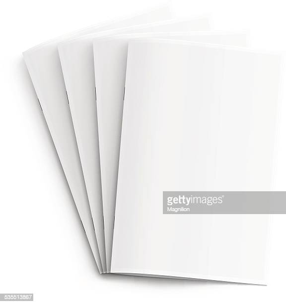blank booklets - folded stock illustrations