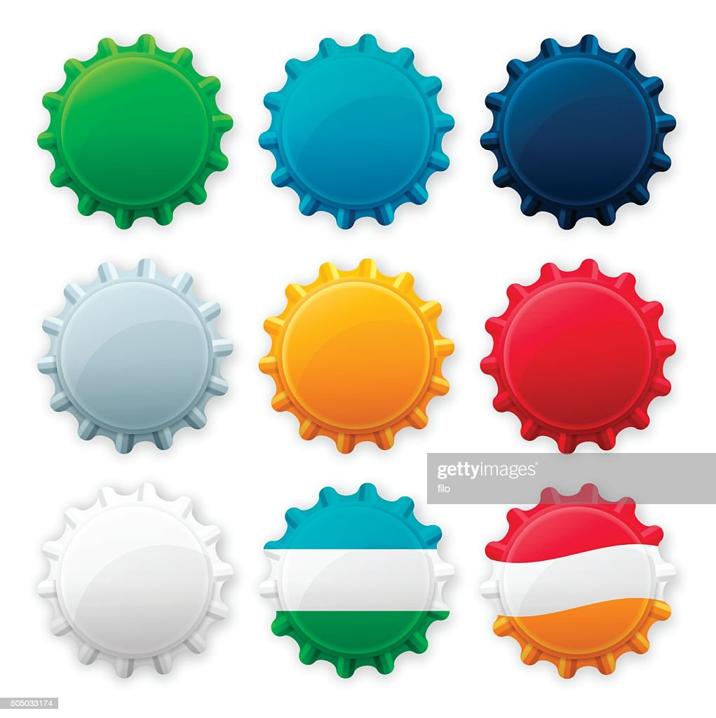 Blank Bottle Cap Tops stock illustration - Getty Images