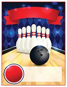 Blank Bowling Flyer Template Illustration
