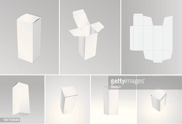 blank boxes - packaging stock illustrations, clip art, cartoons, & icons