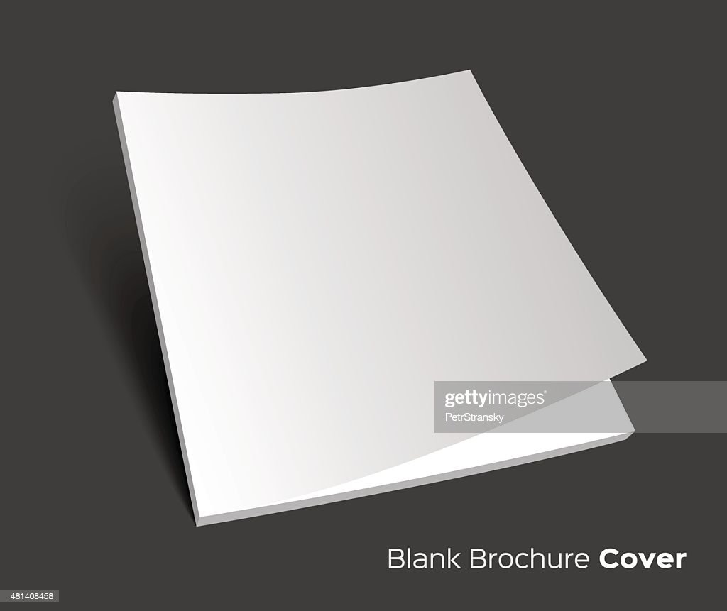 Blank brochure cover on dark