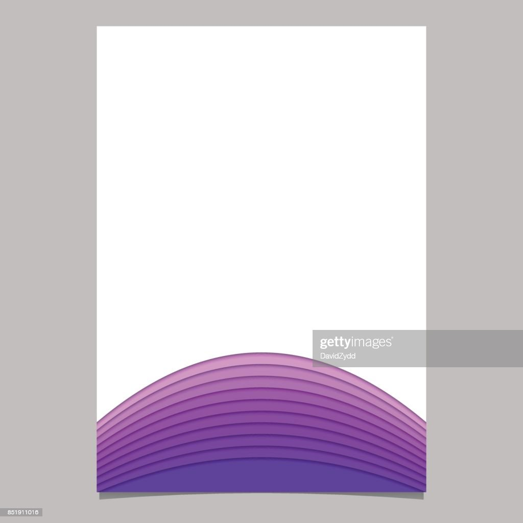 Blank Brochure Template From Layer Stripes Vector Document Graphic