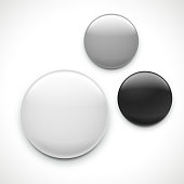 blank button badge template