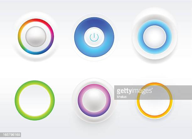 blank button - start button stock illustrations, clip art, cartoons, & icons