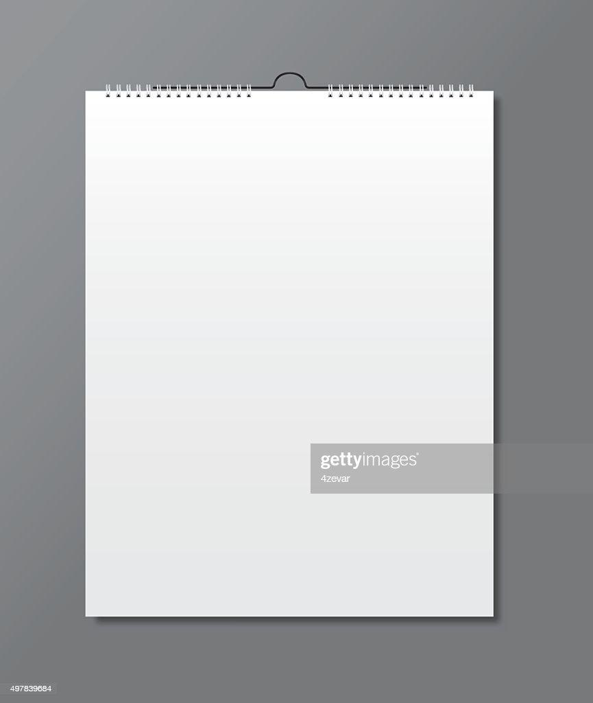 Blank calendar, card design