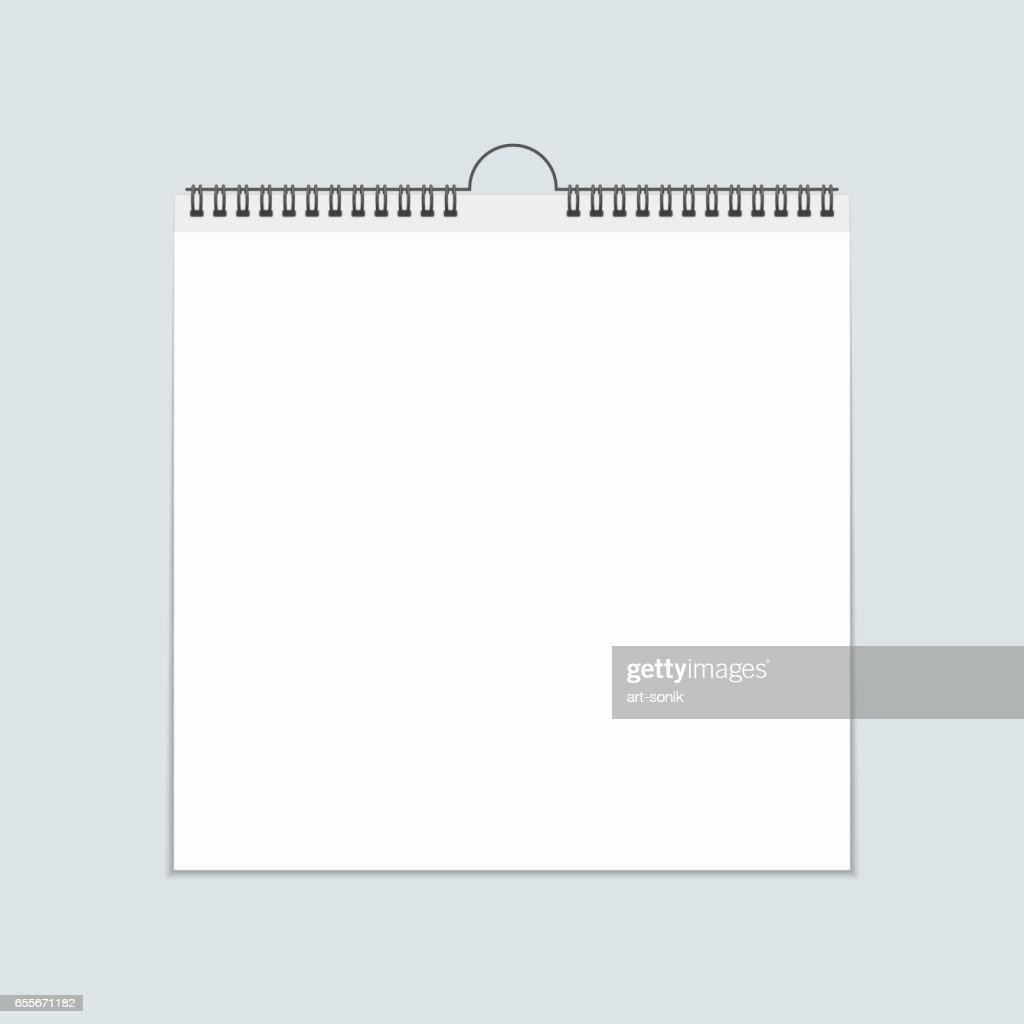 Blank calendar vector.